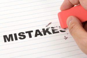 Erasing mistakes